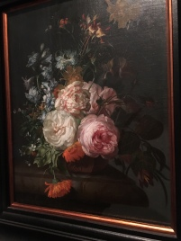 My favorite painting at the museum - by Rachel Ruysch, one of the only professional female artists at the time. Famous for her realistic flowers. The petals are so detailed!