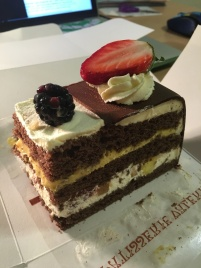 Toffee/Chocolate/Fruit Cake that I got at a chain pastry shop: Patisserie Valerie