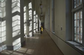Hallways lining the sides